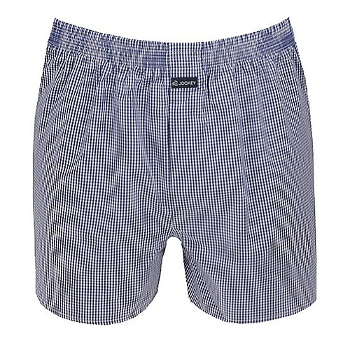 Jockey Mid Blue Check Boxer Short