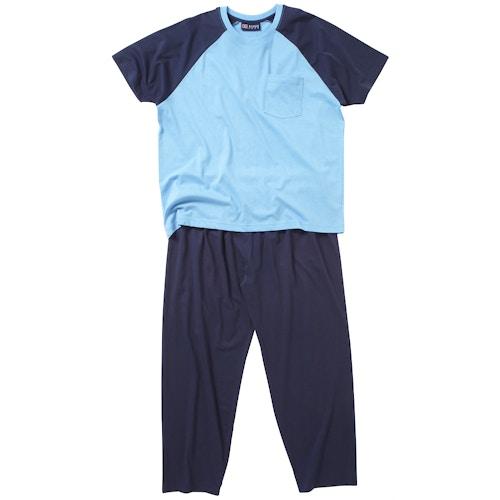 Cotton Valley Klassischer Pyjama Lange Hose Blau