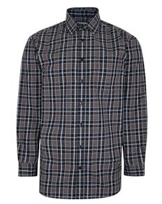Bigdude Long Sleeve Woven Checked Shirt Black Tall