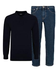 Bigdude Poloshirt & Jeans Set 11
