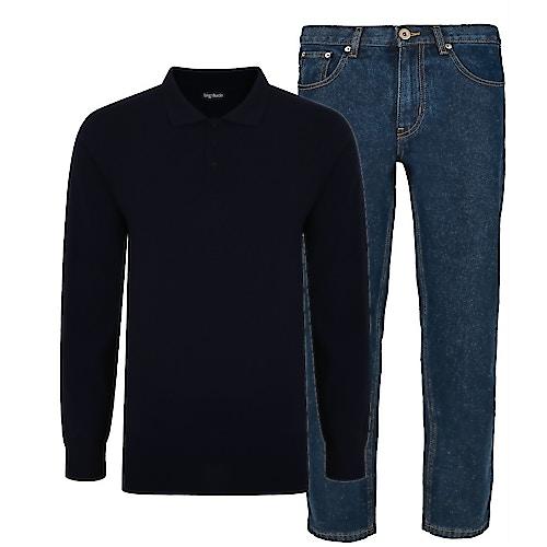 Bigdude Polo Shirt & Jeans Bundle 11