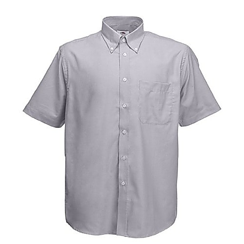 Fruit of the Loom Grey Oxford Shirt