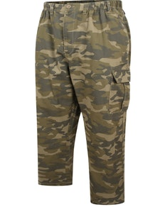 Espionage Camouflage Print Ripstop Trouser With Elasticated Waist
