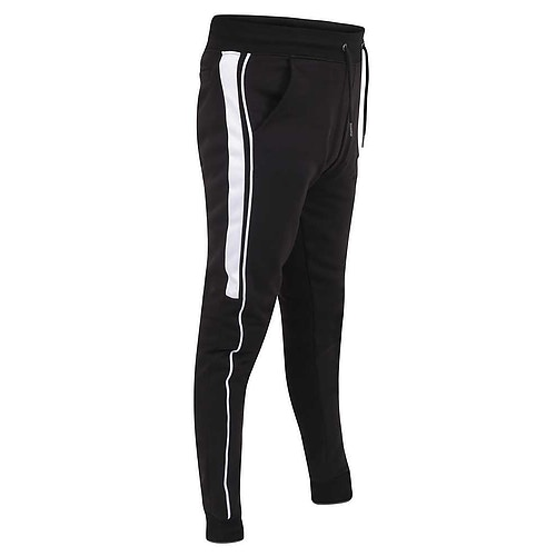 D555 Avon Jogger with Side Panel Black