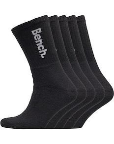 Bench Apollo Five Pack Crew Socks Black/White