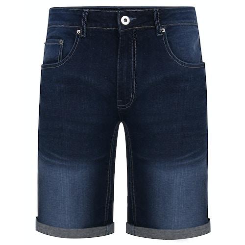 Bigdude Denim Shorts With Turn Ups Rinse Wash