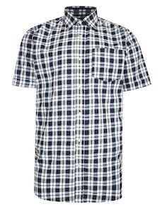 Bigdude Woven Short Sleeve Check Shirt Navy/White