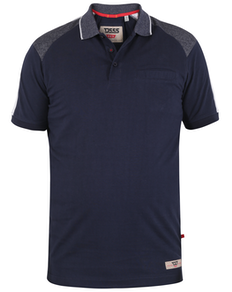 D555 Burgate Cut & Sew Jersey-Poloshirt Navy