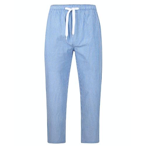Bigdude Woven Striped Pyjama Pants Blue
