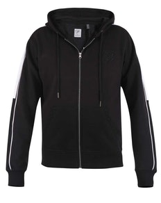 D555 Southwick Zip Through Hoody with Contrast Black