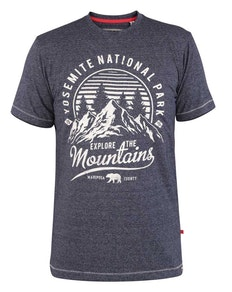 D555 Yosemite Print T-Shirt Blau