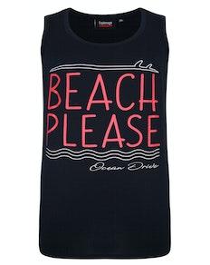Espionage Beach Please Print Tanktop Marineblau