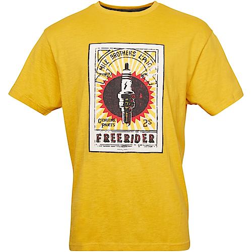 Replika Printed T-Shirt Golden Haze