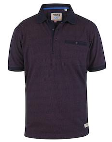 D555 Brightwell Poloshirt mit Allover-Print Navy