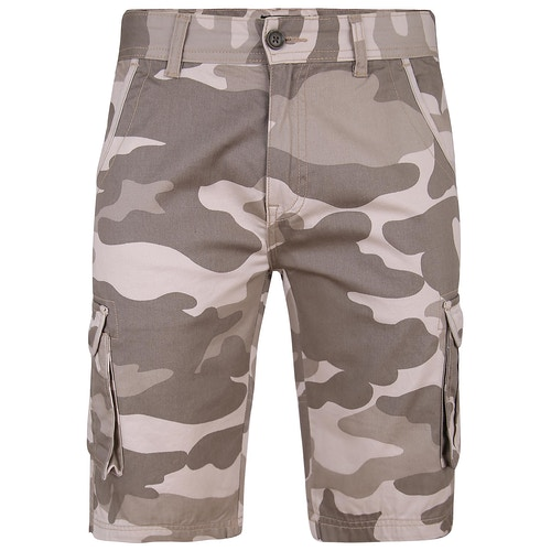 Bigdude Camo Cargo Shorts Sand