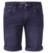 Geneva Stretch Denim Shorts Black