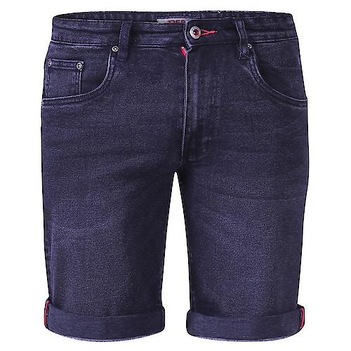 D555 Geneva Stretch Denim Shorts Black