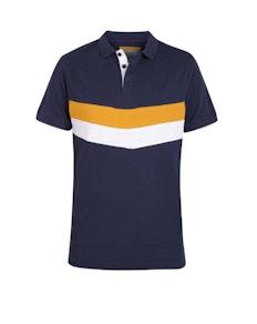 D555 Hopkins Cut & Sew Polo Shirt Navy