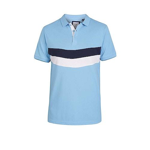 D555 Cut & Sew Poloshirt Hopkins Himmelblau