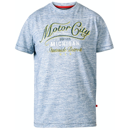 D555 Stirling Motor City Print T-Shirt Blau
