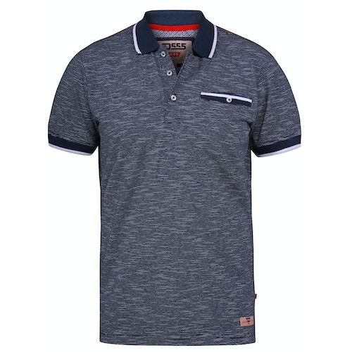 D555 Hornet Fine Stripe Jersey Polo Shirt Navy