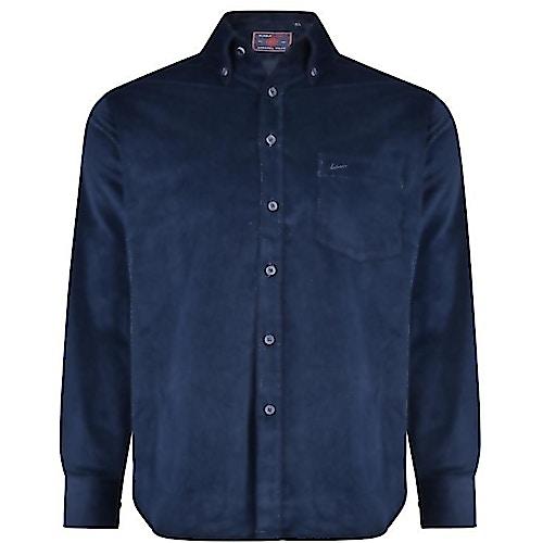KAM Long Sleeve Corduroy Shirt Navy