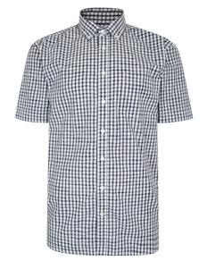 Bigdude Short Sleeve Gingham Check Shirt Navy