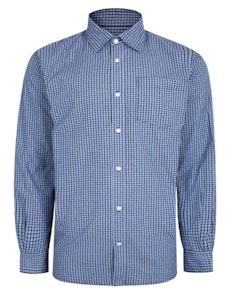 Bigdude Woven Long Sleeve Checked Shirt Blue/Navy