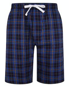 Bigdude karierte Pyjama Shorts Königsblau/Marineblau