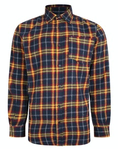 Bigdude Long Sleeve Checked Shirt Blue