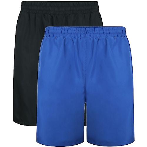 Bigdude Mesh Panel Shorts Twin Pack Royal Blue/Black