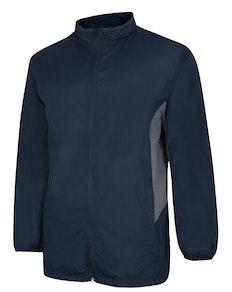 Bigdude Lightweight Contrast Panel Showerproof Jacket Navy