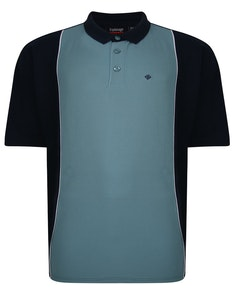 Espionage Cut And Sew Polo Shirt Navy