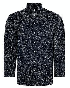 Bigdude Patterned Long Sleeve Shirt Black