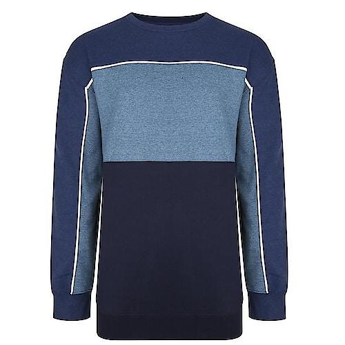 KAM dreifarbiges Sweatshirt Jeansblau