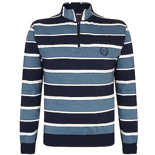 KAM gestreiftes Sweatshirt Blau