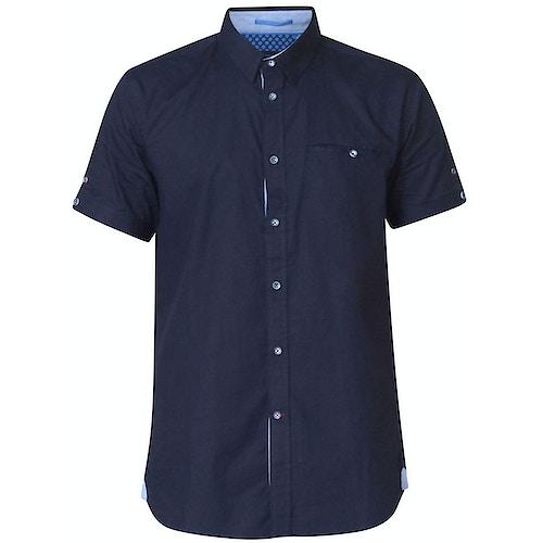 D555 Tim Short Sleeve Shirt Navy Tall