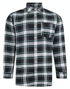 Bigdude Long Sleeve Checked Shirt Black/Green