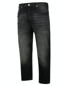 Bigdude Non-Stretch-Jeans Schwarze Waschung