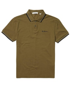 Ben Sherman Signature Pique Polo Shirt Hemp