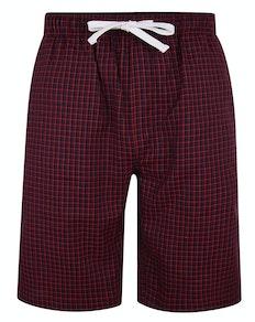 Bigdude karierte Pyjama Shorts Rot/Blau
