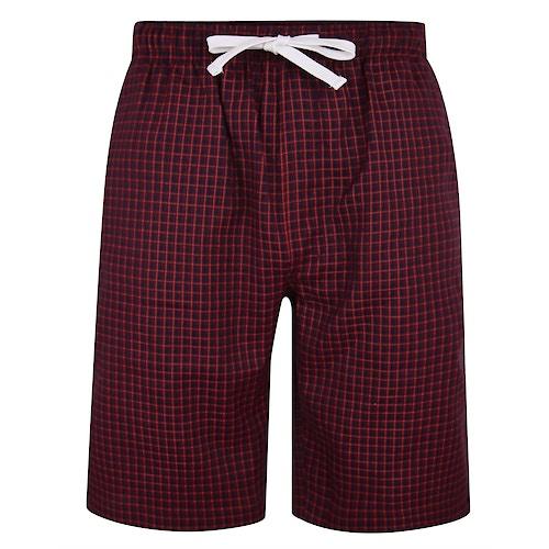 Bigdude Woven Check Pyjama Shorts Red/Blue