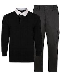 Bigdude Polo Shirt & Cargo Trousers Bundle 1