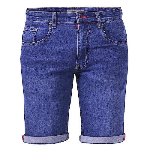 D555 Davidson Stretch Denim Shorts Dark Blue