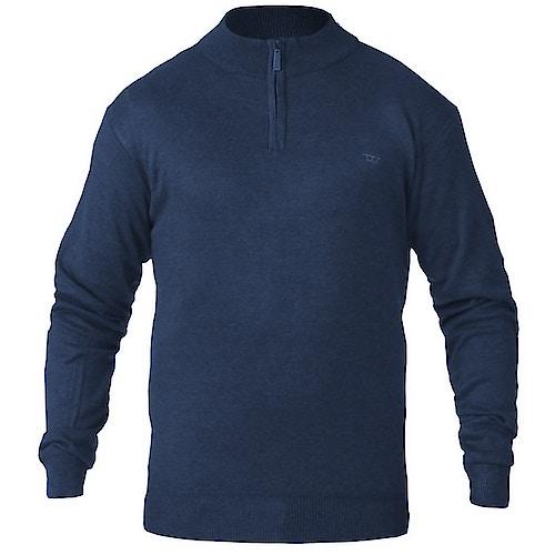 D555 Chuck Plain Zip Sweater Navy