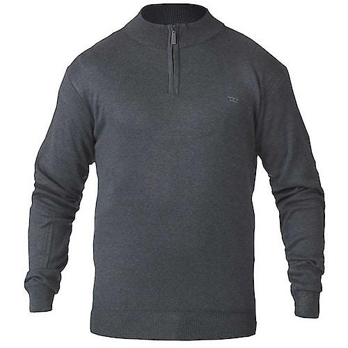 D555 Chuck Plain Zip Sweater Charcoal