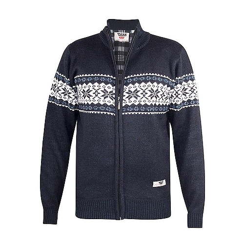 D555 Campbell Full Zip Sweater Navy