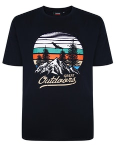 Espionage Great Outdoors Print T-Shirt Navy