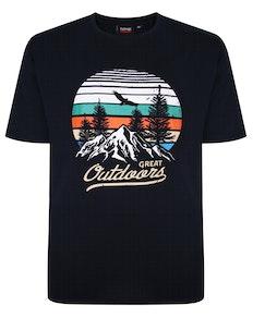 Espionage Great Outdoors Print T-Shirt Marineblaue