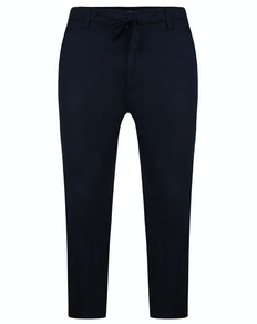 Bigdude Linen Trousers Navy
